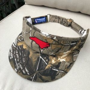 NC State Camouflage Visor MADE IN USA